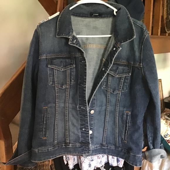 Vintage J crew denim jean jacket. Large